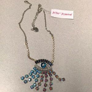 NWT BETSEY JOHNSON eye necklace